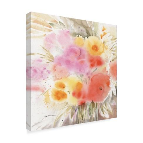 Trademark Fine Art 24 X Sheila Golden Spring Flowers Square Canvas Target
