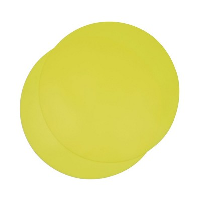 Juvale 2 Pack Silicone Microwave Mats, Yellow Kitchen Pot Holders, 11.75 In Round Trivets