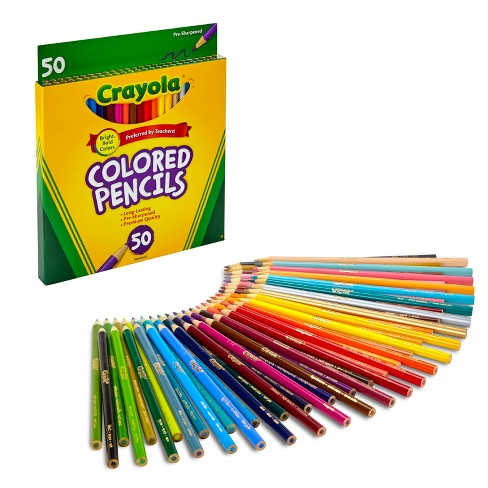 Crayola 50ct Colored Pencils Assorted Colors : Target