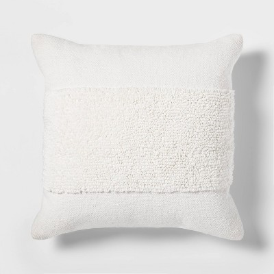 Tufted Modern Pattern Square Pillow White - Project 62™