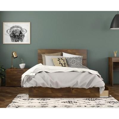 3pc Rubicon Platform Bed Set Truffle - Nexera