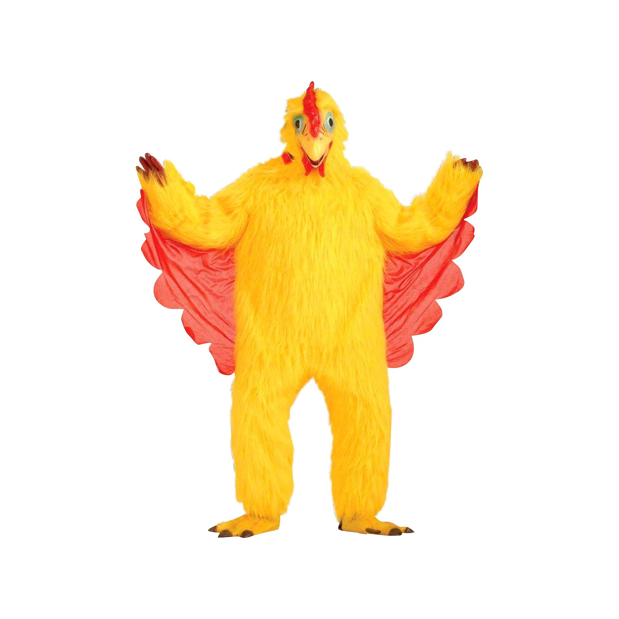 Halloween Adult Comical Chicken Costume Yellow One Size, Adult Unisex