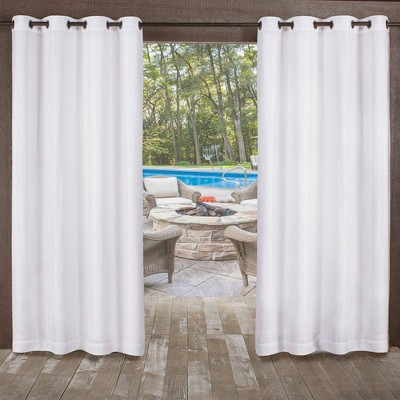 """120""""x54"""" Miami Grommet Top Light Filtering Window Curtain Panels White - Exclusive Home"""