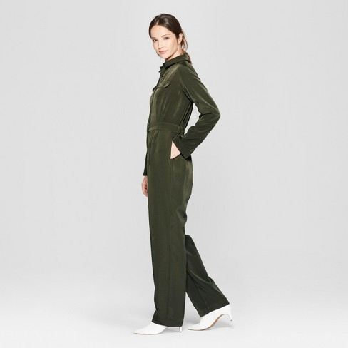 020f8c866ef9 Women s Long Sleeve Collared Utility Jumpsuit - Prologue™ Olive   Target