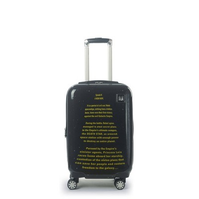 """FUL Star Wars A New Hope Opening Crawl Printed 21"""" Spinner Suitcase - Black"""
