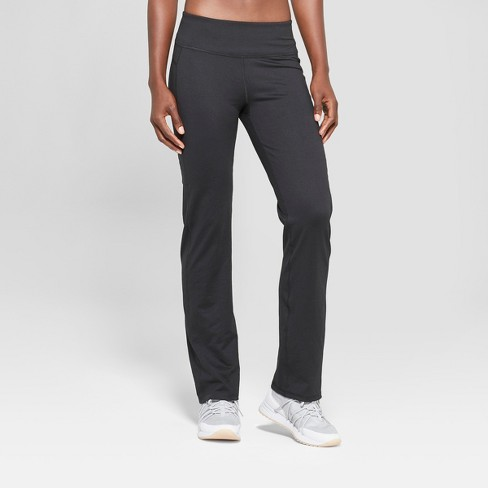 """Women's Everyday Curvy Fit Mid-Rise Pants 31.5"""" - C9 Champion® Black - image 1 of 3"""