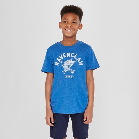 Boys' Harry Potter Ravenclaw Short Sleeve Graphic T-Shirt - Blue - image 1 of 3