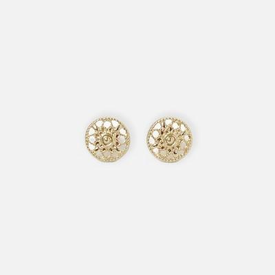 Sanctuary Project Filigree Stud Earrings Gold
