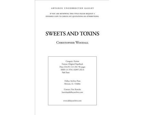 Sweets and Toxins -  (British Literature) by Christopher Woodall (Paperback) - image 1 of 1