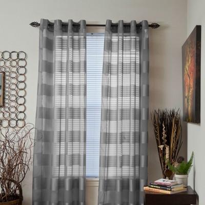 Yorkshire Home Sofia Grommet Curtain Panel - Gray (54 x84 )
