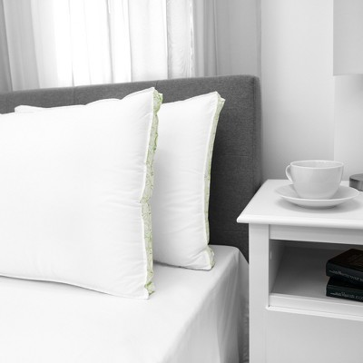 SensorPEDIC Firm Density Standard Bed Pillow with Cotton Cover 2 Pack