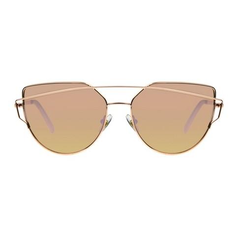 Women's Cat Eye Sunglasses - Wild Fable™ Light Gold - image 1 of 5