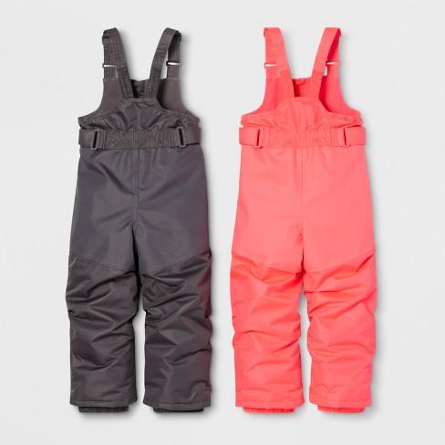 e0adda77d Toddler Girls  2pk Snow Pants - Cat   Jack™ Pink Gray   Target
