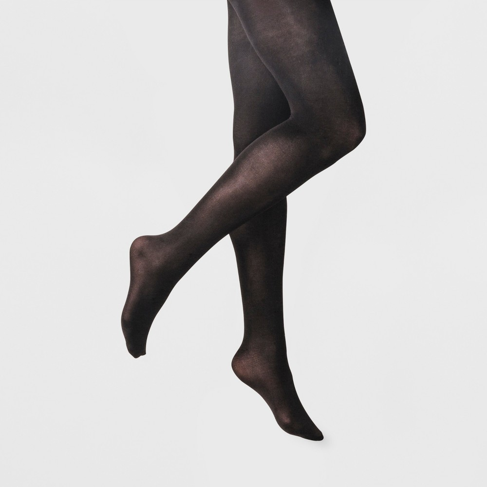 Women's 2pk 50D Opaque - A New Day Black S/M