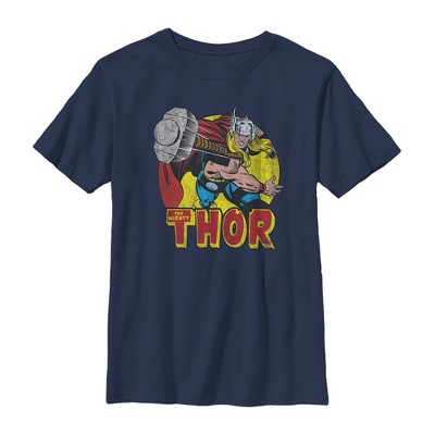 Boy's Marvel Mighty Thor Hammer Throw T-Shirt