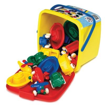 Viking Toys Mini Vehicles in Bucket Set - 16pc