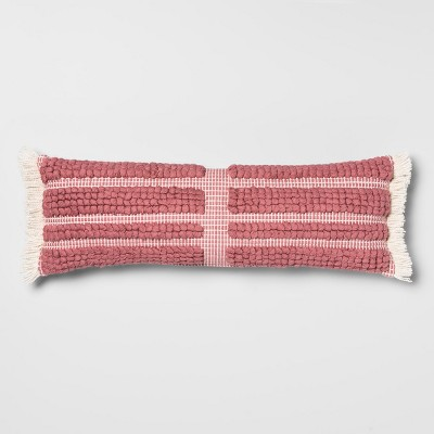 Looped Stripe Oversize Lumbar Throw Pillow Pink - Opalhouse™