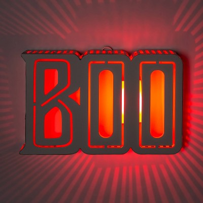 "Backlit LED Color Changing ""Boo"" Halloween Light Up Decor - Hyde & EEK! Boutique™"