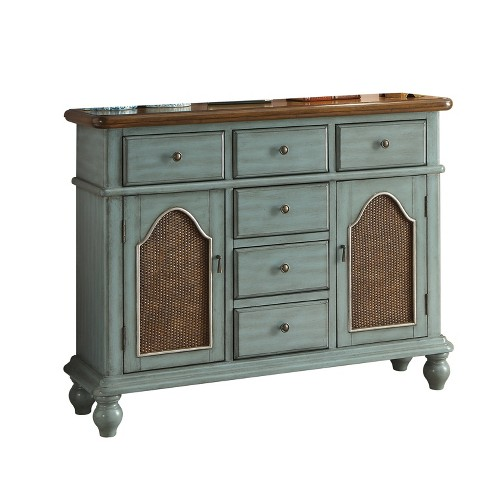 Acme Furniture Telissa Console Table Antique Blue/Oak Brown - image 1 of 2