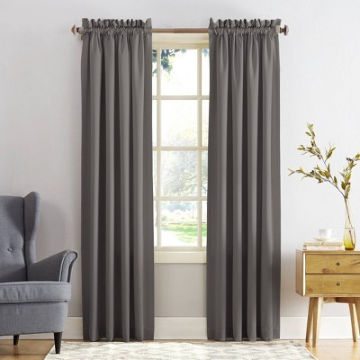 "108""x54"" Seymour Energy Efficient Room Darkening Rod Pocket Curtain Panel Silver - Sun Zero"