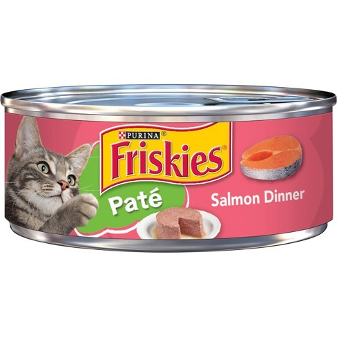 Purina Friskies Classic Pate Dinner Salmon Flavor Wet Cat Food - 5.5oz Can - image 1 of 4