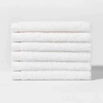 "12""X12"" 6pk Washcloth Set White - Room Essentials™"