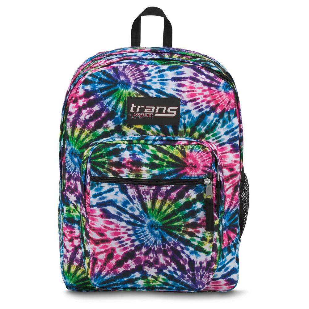 Trans by JanSport 17 SuperMax Backpack - Tie Dye Swirls, Multi-Colored
