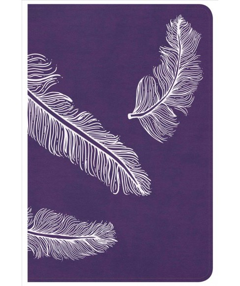 Holy Bible : Christian Standard Bible, Ultrathin for Teens, Plum Feathers LeatherTouch (Compact) - image 1 of 1