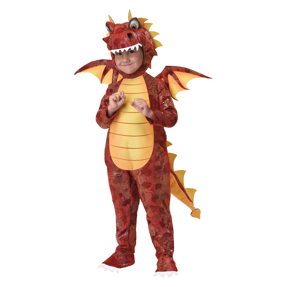 Toddler Fire Breathing Dragon Halloween Costume 4T-6T, Toddler Boy's, Multicolored
