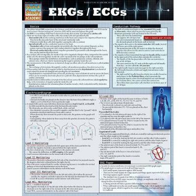 EKGs / Ecgs - (Quick Study: Academic) by  Lisa Farach (Poster)