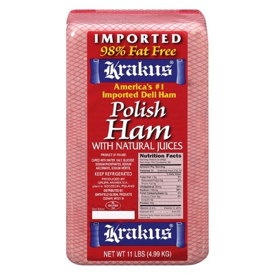 Krakus Polish Ham with Natural Juices - Deli Fresh Sliced - price per lb