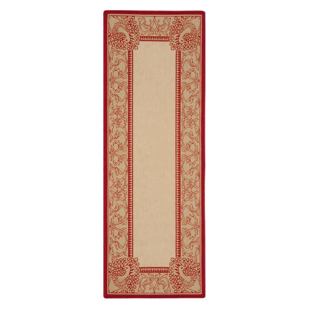 Bradford Rug 2'3X10' - Natural/Red - Safavieh