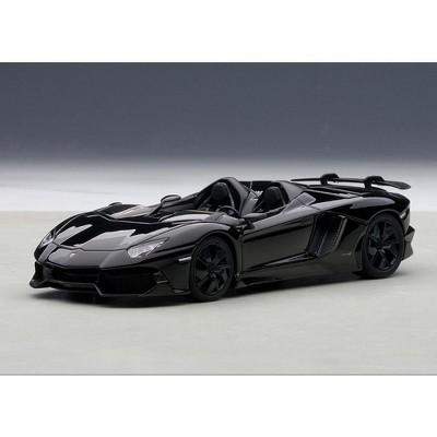 Lamborghini Aventador Roadster J Black 1/43 Diecast Model Car by Autoart