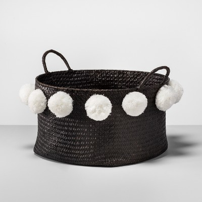 Pom Basket Large - Black/White - Opalhouse™