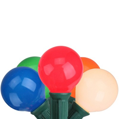 Northlight 20ct G50 Opaque Globe String Lights Multi-Color - 20' Green Wire