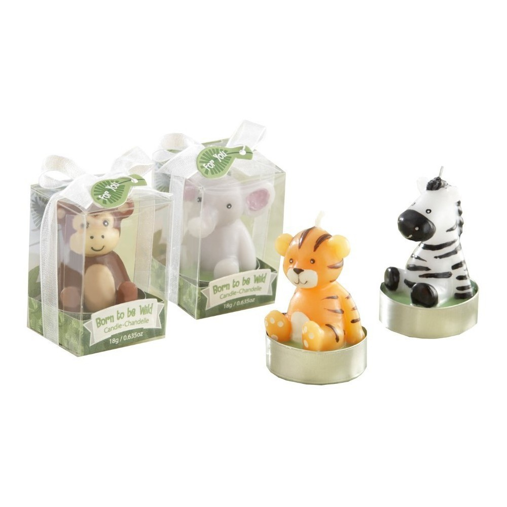 "Image of ""12ct """"Born to be Wild"""" Animal Candles"""