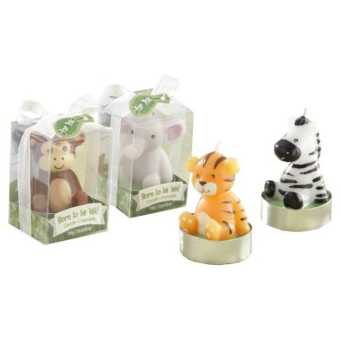 "12ct Kate Aspen ""Born to be Wild"" Animal Candles - image 1 of 2"
