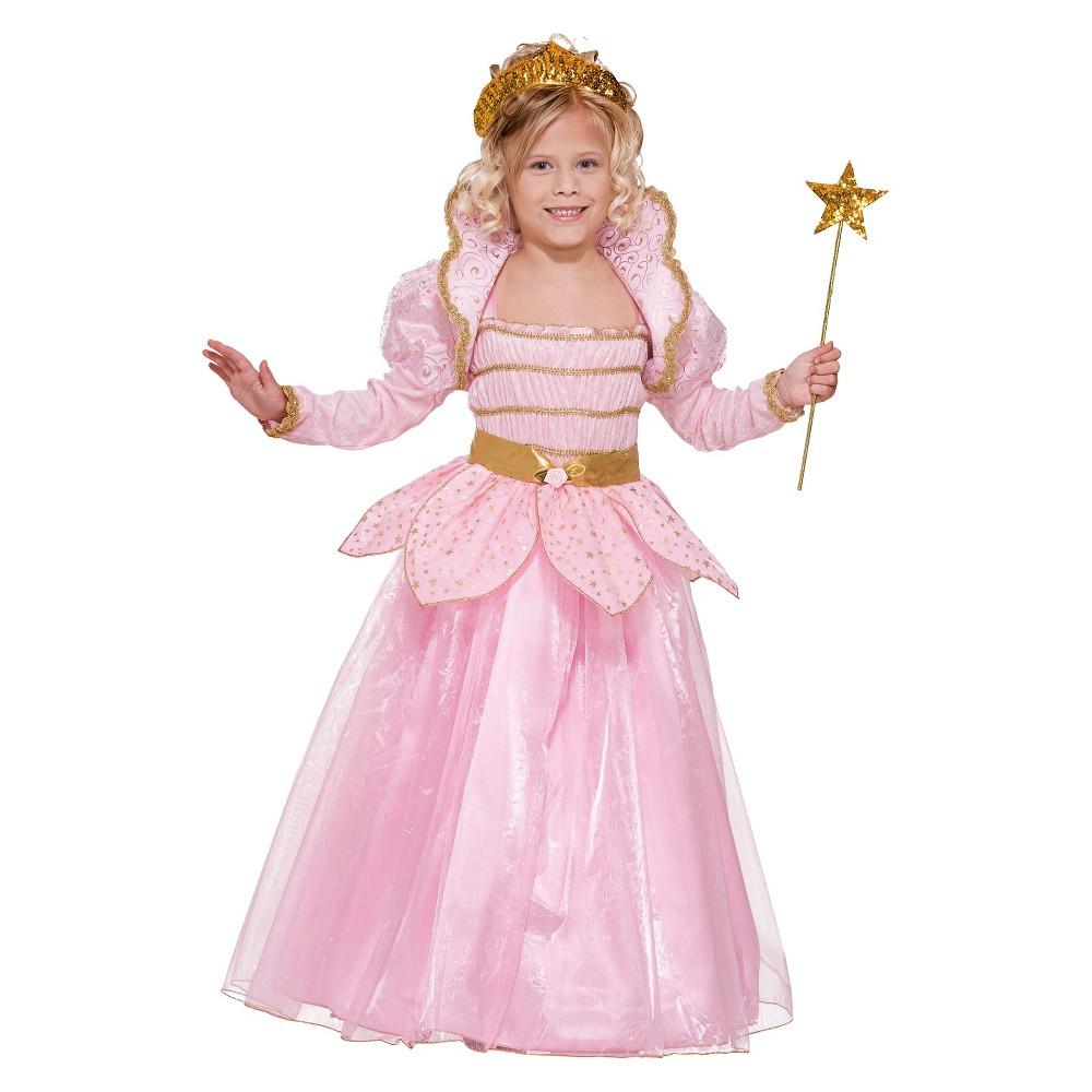 Image of Halloween Girls' Little Princess Costume Pink Large (12-14), Girl's