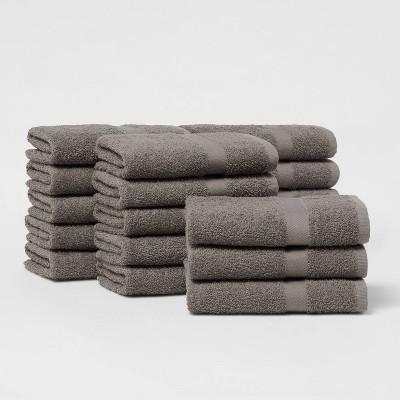 18pk Hand Towel Bundle Dark Gray - Room Essentials™