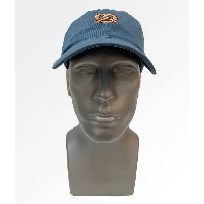 Men's Pretzel Icon Flat Brim Baseball Hat - Blue One Size
