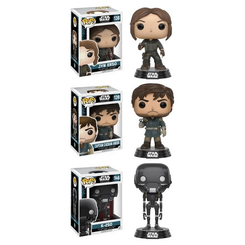 Funko Star Wars: POP! Rogue One Collectors Set #1; Jyn Erso, Captain Cassian Andor, K-2SO - image 1 of 4