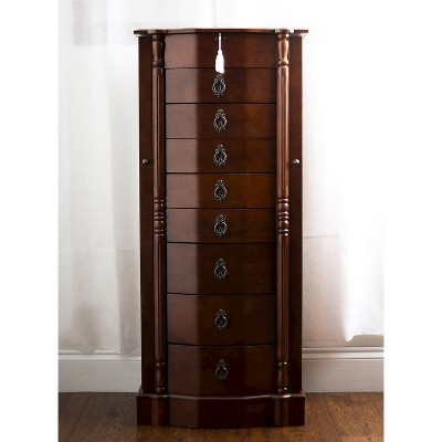Robyn Jewelry Armoire Brown - Hives & Honey