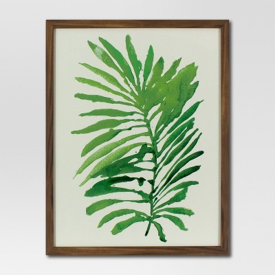Framed Watercolor Palm Leaf (16 x20 )- Green - Project 62™