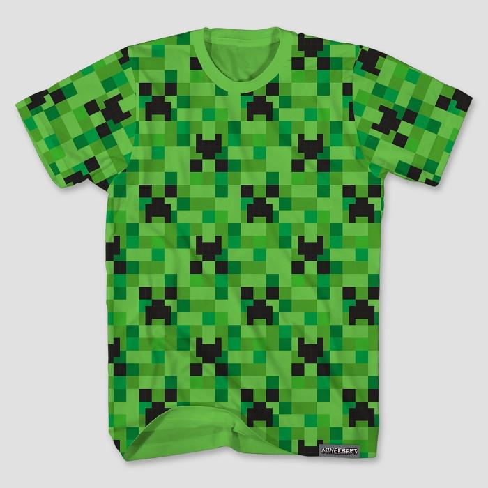 Boys' Minecraft Short Sleeve T-Shirt - Green - image 1 of 1