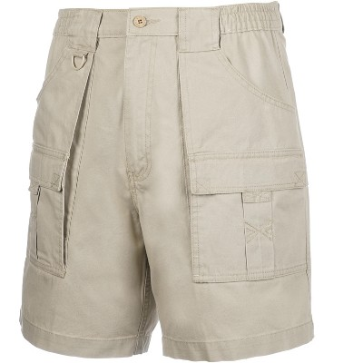 Hook & Tackle Beer Can Cargo and Cell Phone Pocket Fishing Shorts
