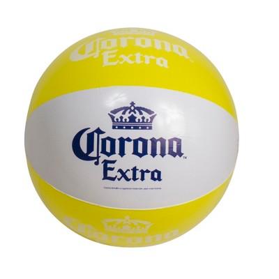 "Northlight 20"" Corona Tropical Yellow and White Inflatable Beach Ball"
