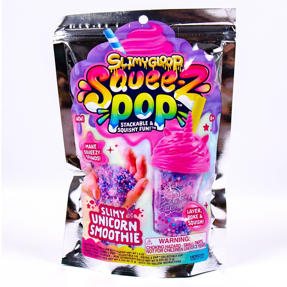 Image of SlimyGloop Unicorn Smoothie SqueezPop