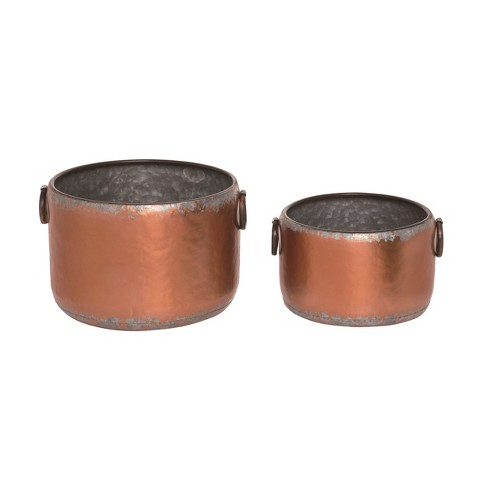 Transpac Metal 12 in. Bronze Spring Rustic Container Set of 2 - image 1 of 1