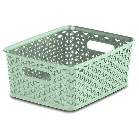Y Weave Small Storage Bin - Mint - Room Essentials™ - image 1 of 1
