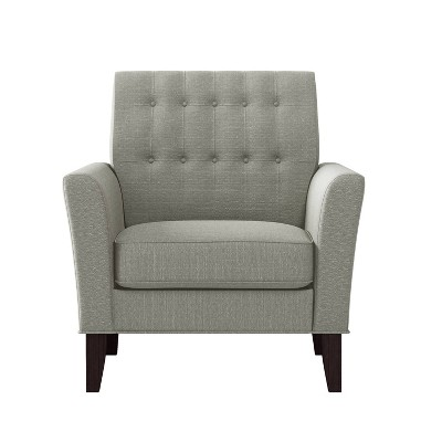 Graff Button Tufted Armchair Linen - Handy Living